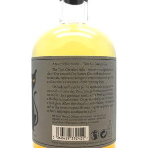Tom Cat Cloudy Mango Gin - back label
