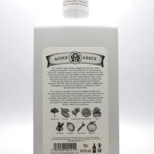 Agnes Arber Premium Gin - back label