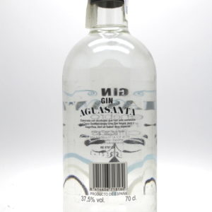 Gin Aguasuanta - back label