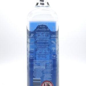 Topaz Blue, London dry gin - back label