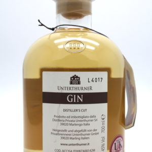 Unterthurner Gin - back view
